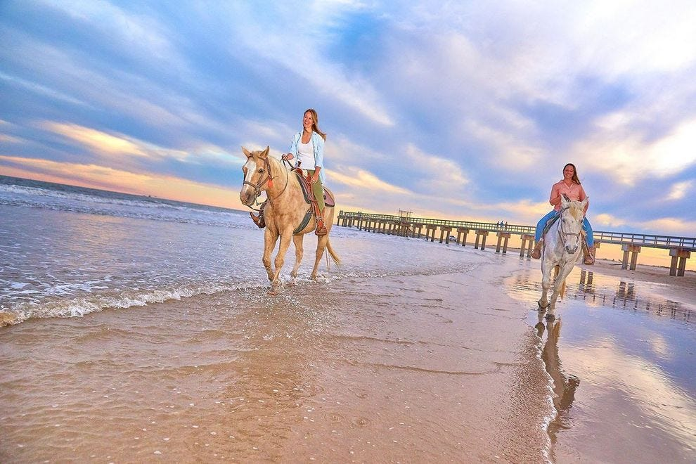 Texas beaches offer camping, birdwatching and horseback riding in the Gulf surf