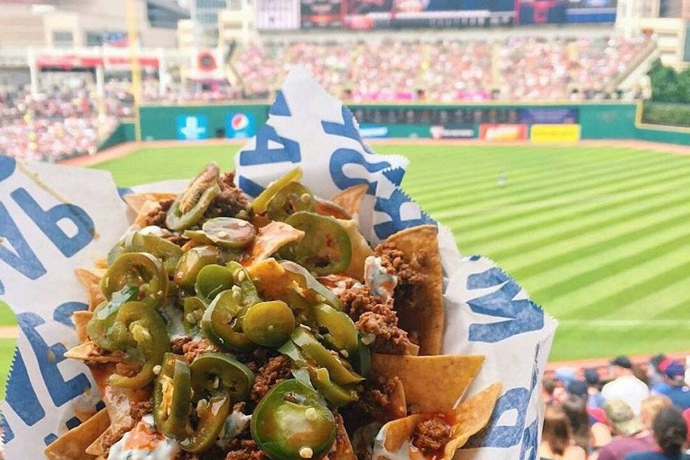 Momocho Nachos at Progressive Field are made to order