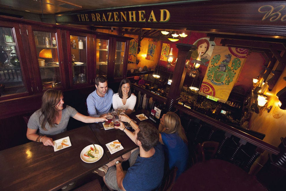 Order a round of pints at Brazenhead