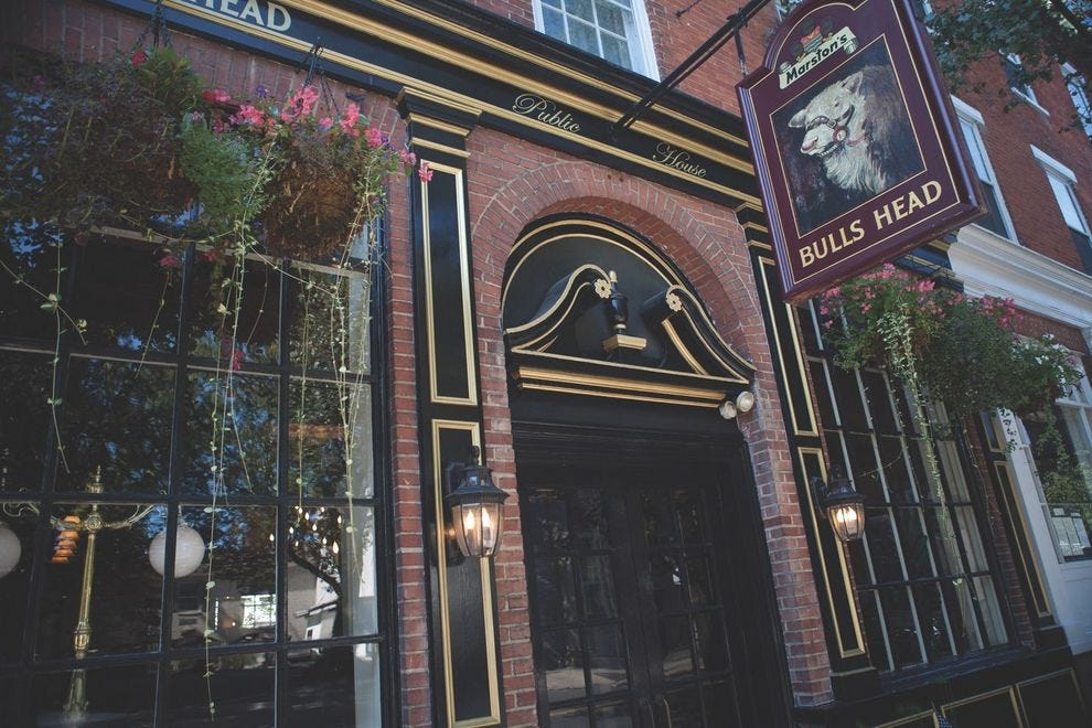 Beer lovers can choose from 14 beers on tap at Bulls Head Public House