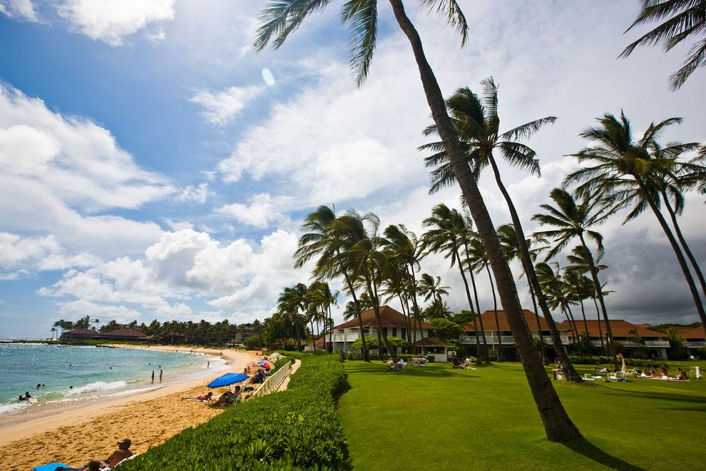 Poipu is the most popular beach on Kauai's South Shore