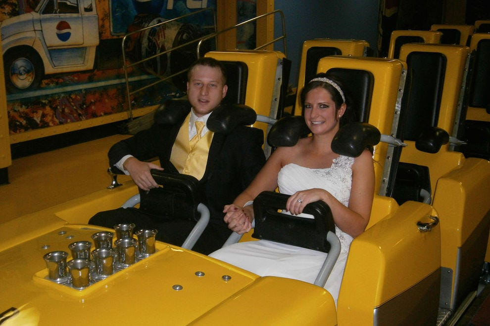 Take the plunge and get married on the Big Apple Coaster at New York-New York