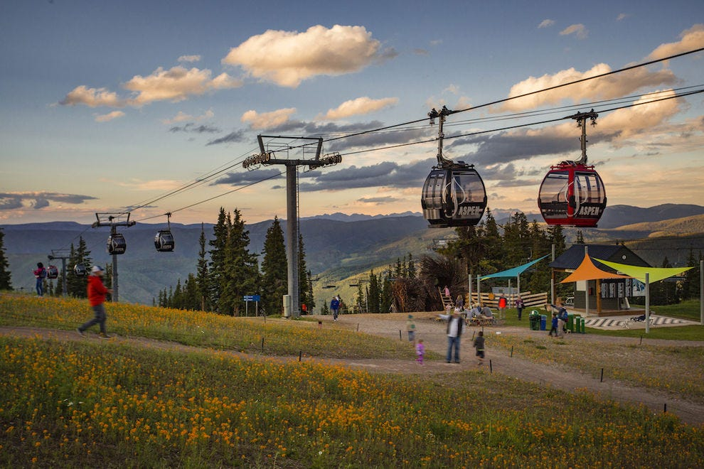 The Aspen Mountain Silver Queen Gondola provides stunning views
