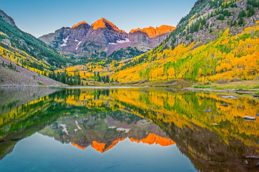 The Maroon Bells are gorgeous any time of year