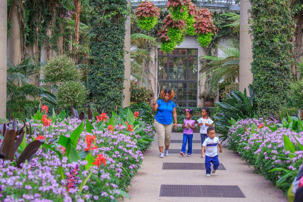 Longwood Gardens is one of the best family attractions in the Philadelphia area