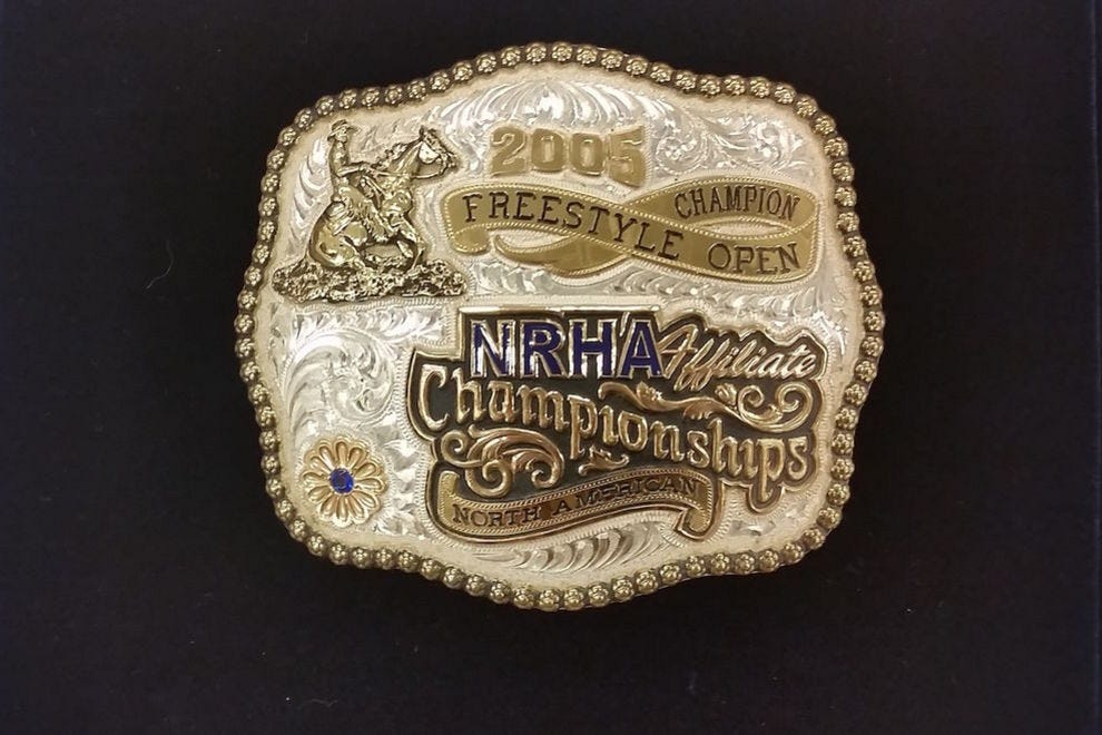 Stacy Westfall's 2005 Open Freestyle Champion NRHA Affiliate Championships North American award