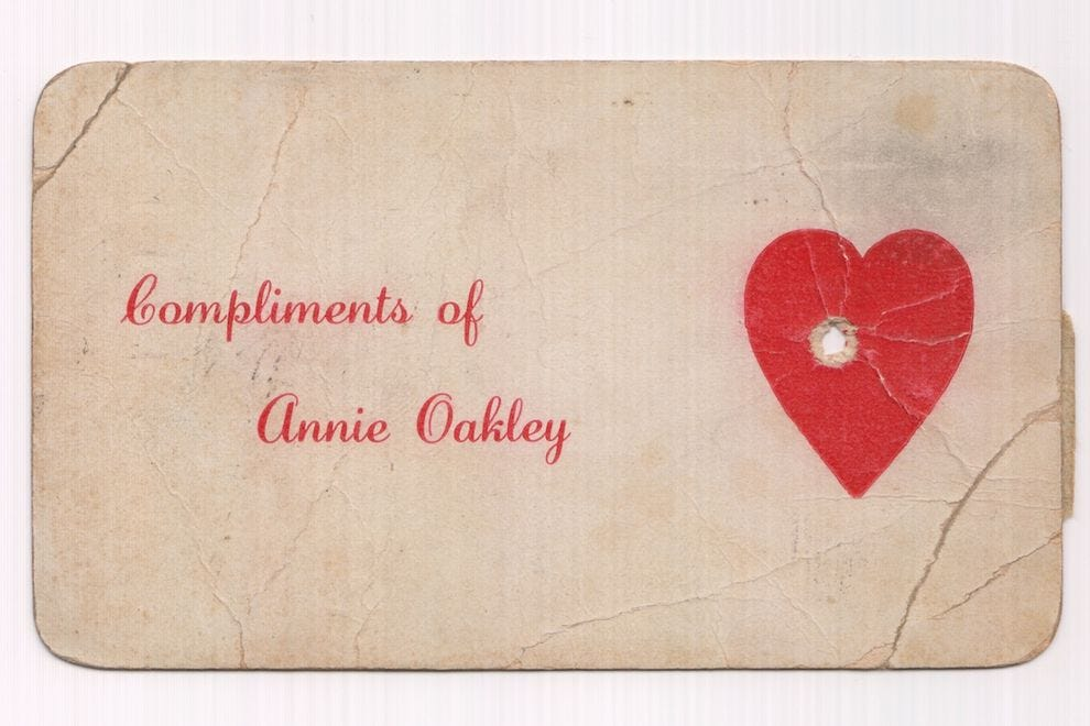 Promotional postcard shot by Annie Oakley