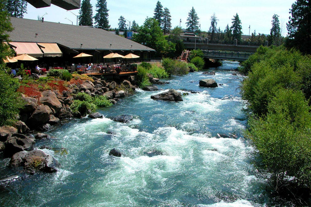 The Deschutes River runs hundreds of miles from the mountains near Bend to the Columbia River