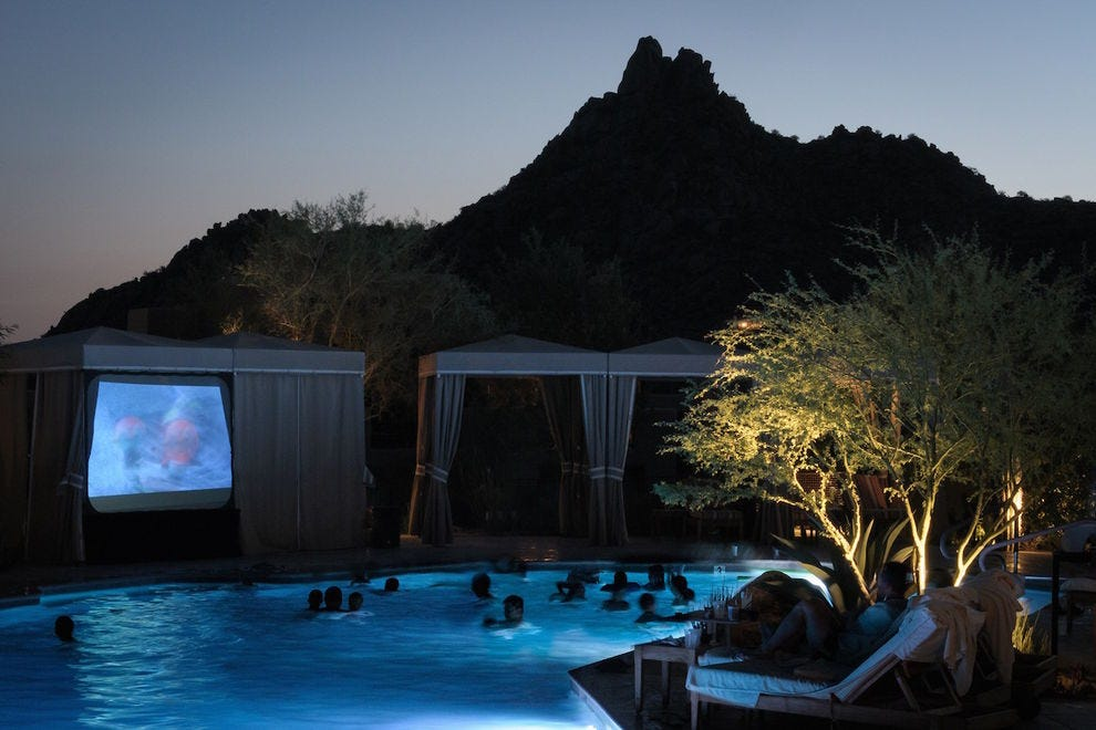 Summer Saturday nights mean dive-in movies at Four Seasons Resort