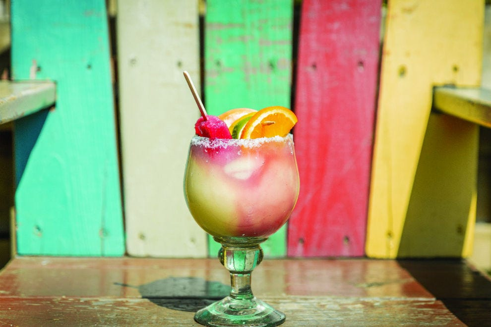 The Rustic's frozen Rimy Rita is a surefire way to cool off in Dallas' summertime heat
