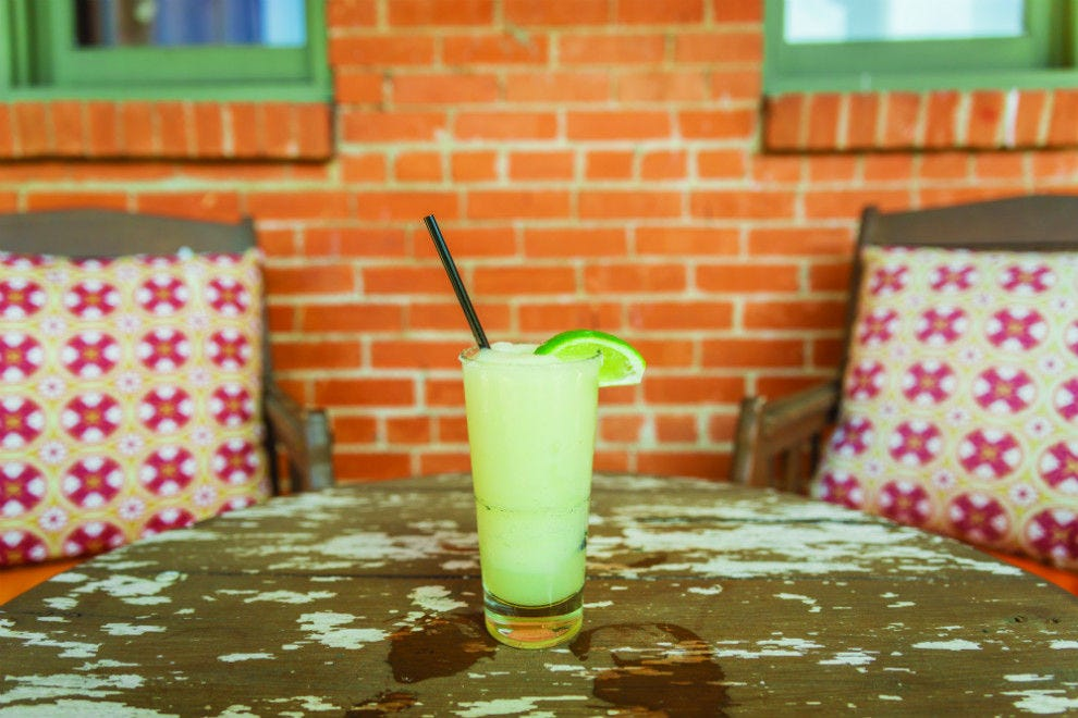 Oaxacan sea salt adds a nice smoky note to Meso Maya's house margarita