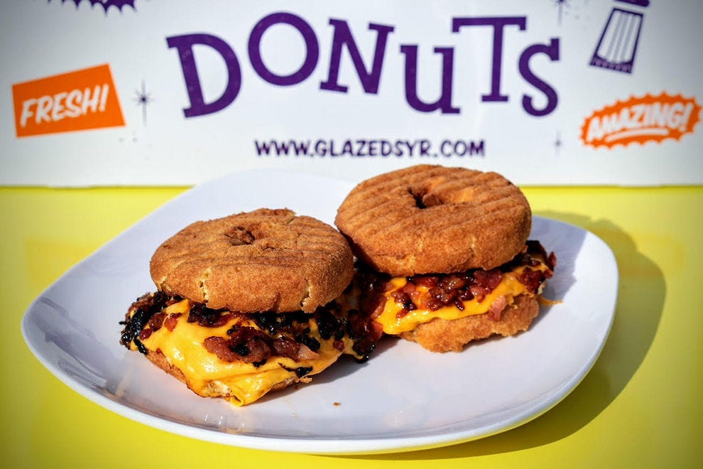 The Donini breakfast sandwich at Glazed & Confused