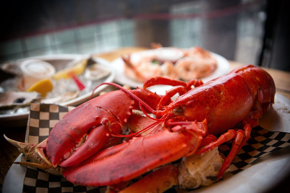 In Maine, lobster is just as good from a seafood shack as from a high end restaurant