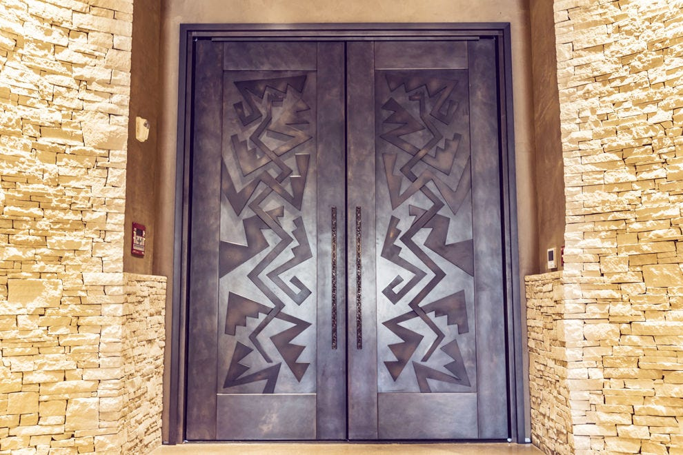 These unique lobby doors set the tone for your stay