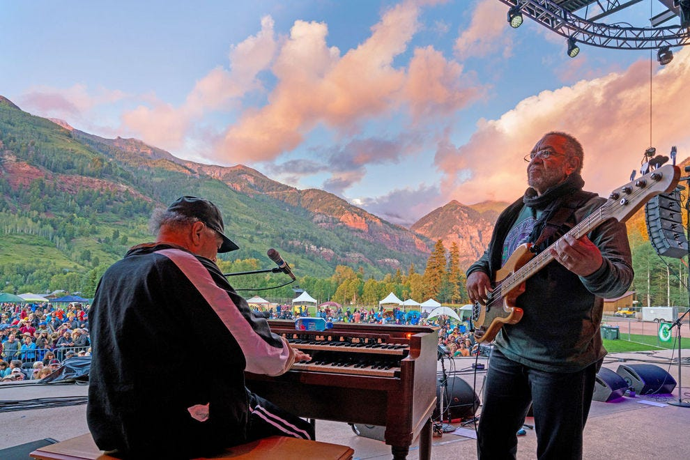 Performers at the Telluride Jazz Festival and other concerts frequently comment on the venue's jaw-dropping beauty