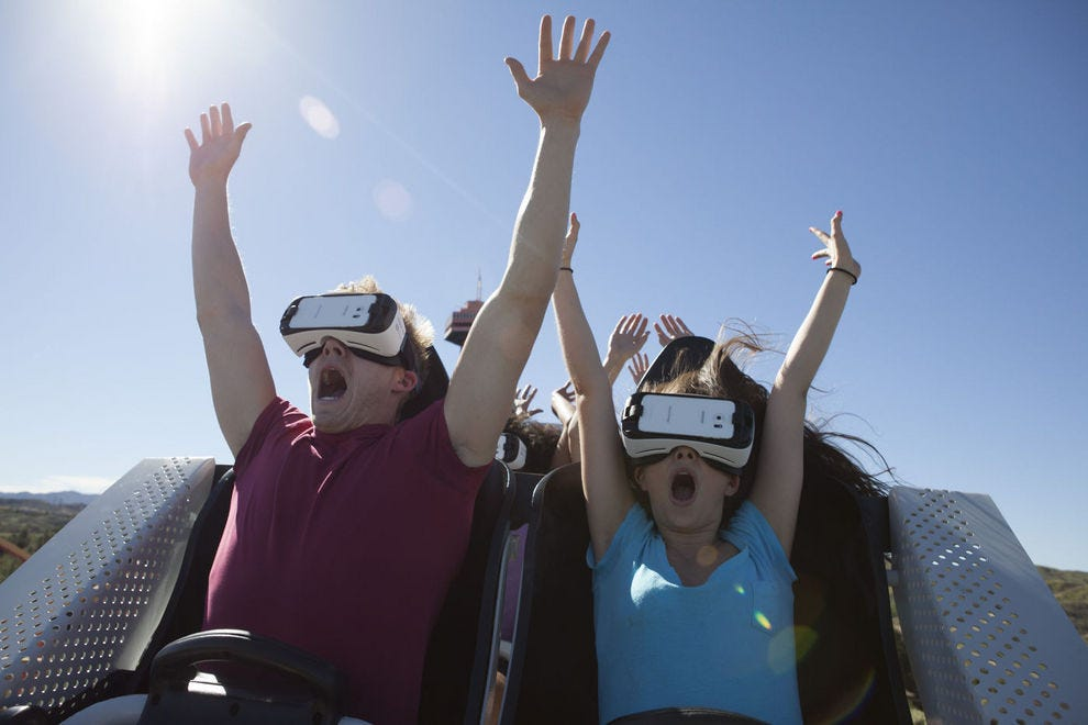 VR roller coaster at Six Flags Magic Mountain