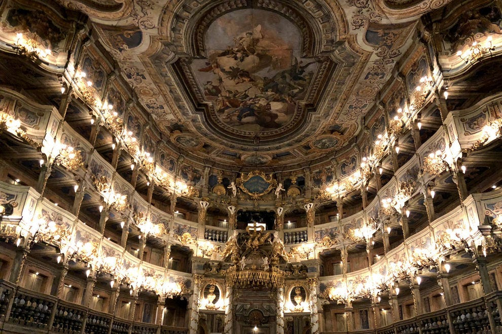 Take in the beauty of the Margravial Opera House