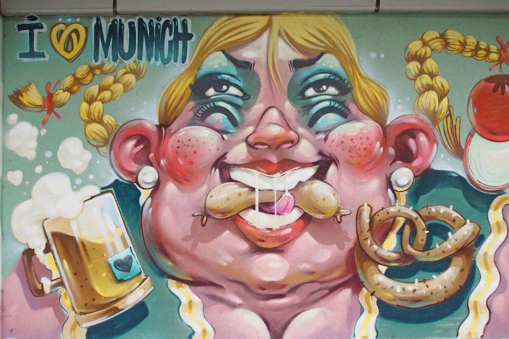 There's so much great street art in Munich, like this piece by Erase
