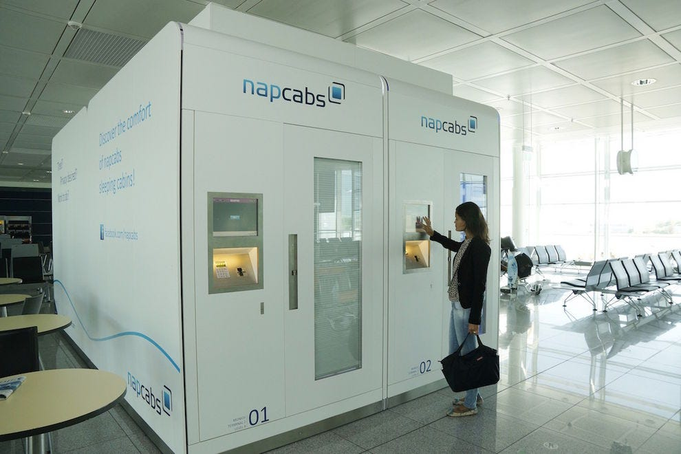 Napcabs are the perfect place to catch a few winks