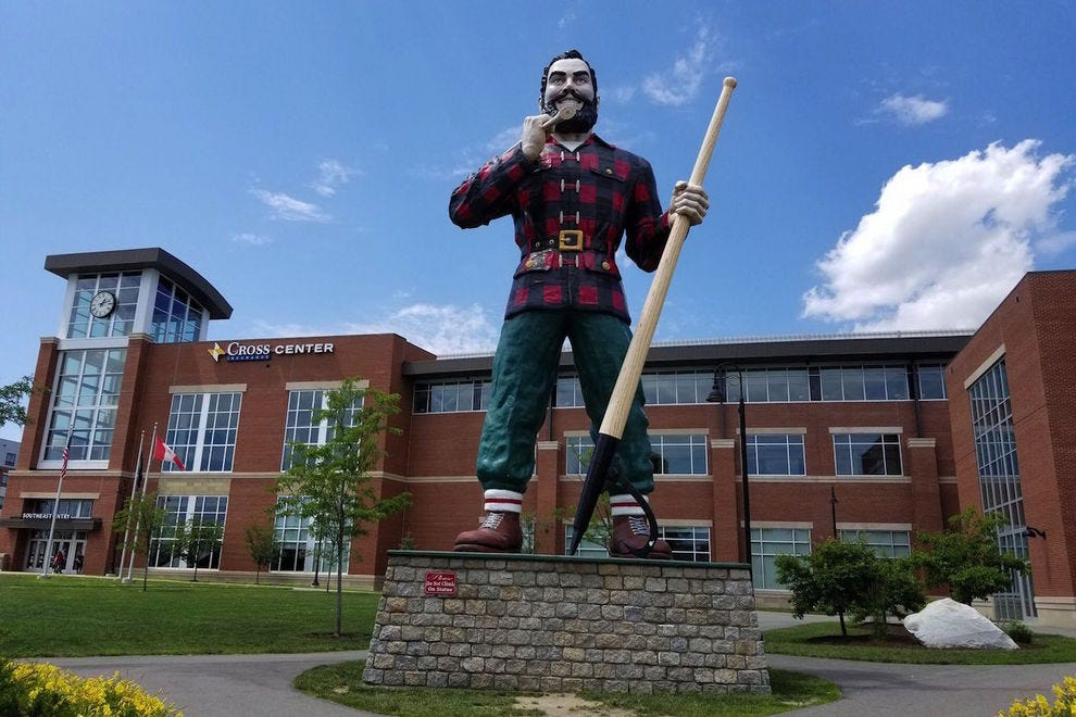 Hopefully Paul Bunyan will not come alive when you visit