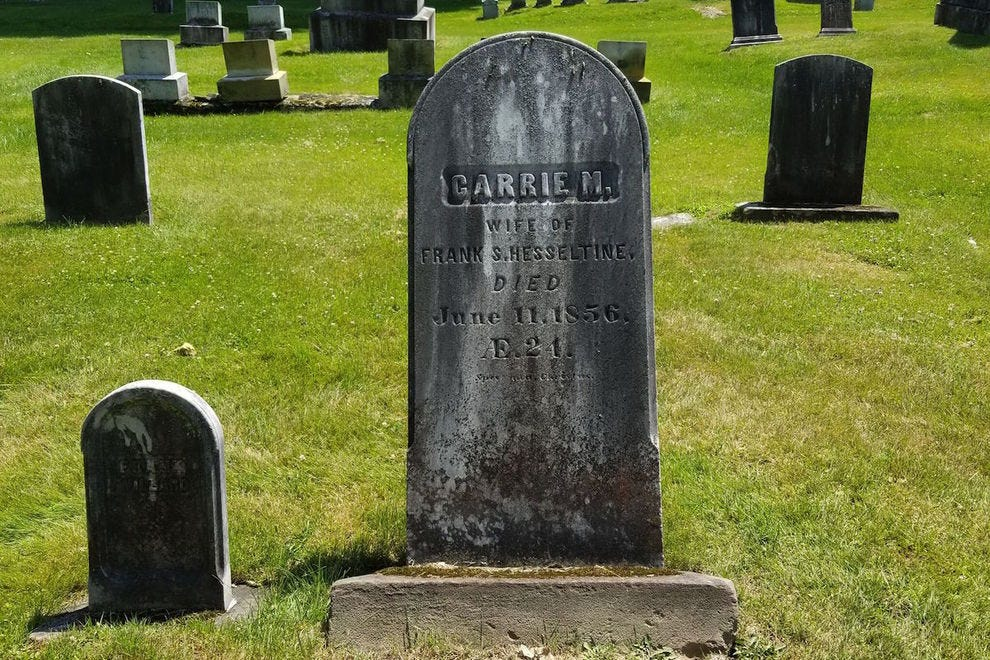 This headstone inspired the title character from <em>Carrie</em>