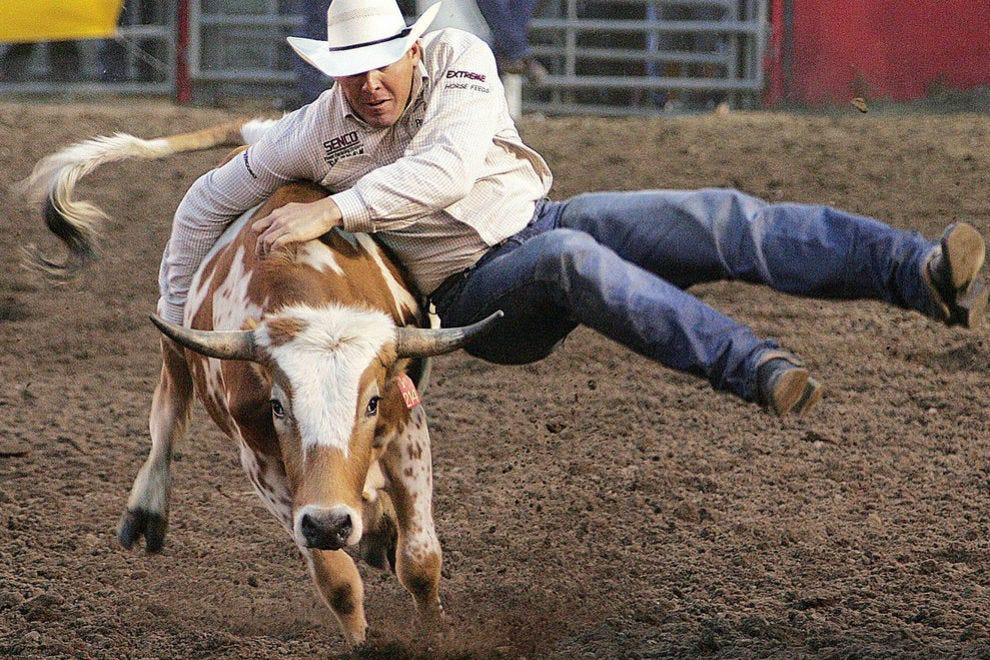 The Dodge City Roundup Rodeo takes place each July and August