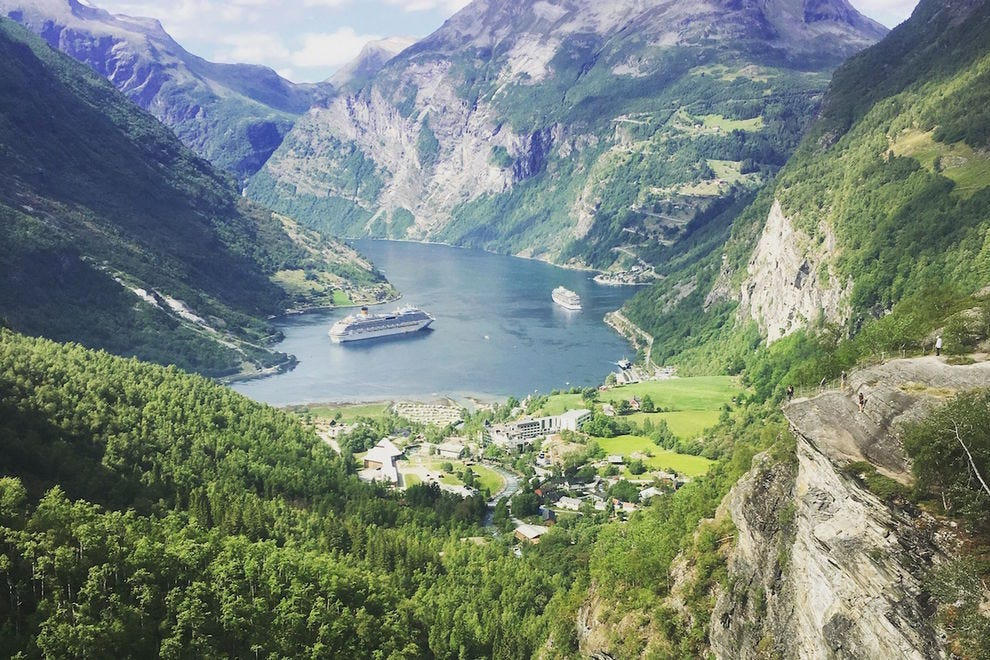 The scenery in Geiranger is just breathtaking