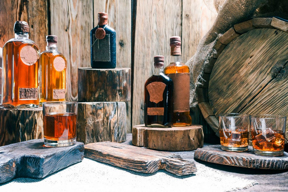 Whiskey encompasses a whole range of spirits distilled from grains