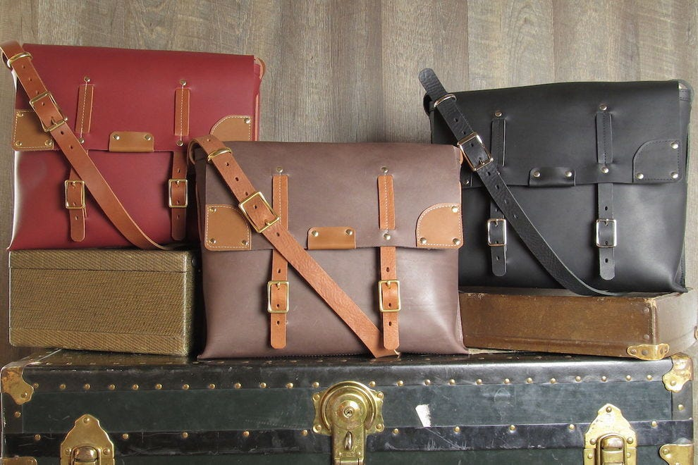 "Branch Line Leather Co. makes ""Bespoke for the People"" leather and wool bags"
