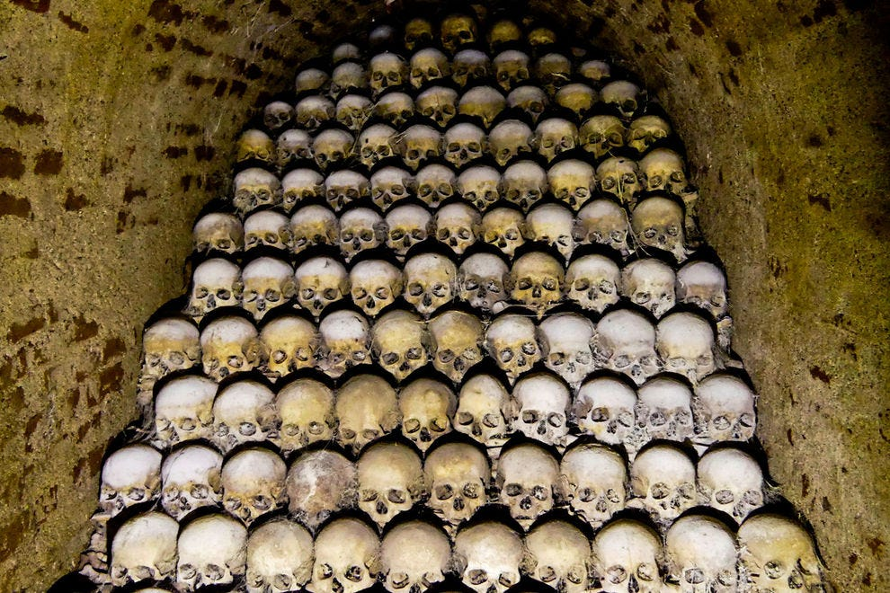 Brno Ossuary, beneath St. James church, is an intriguing glimpse into the city's history.