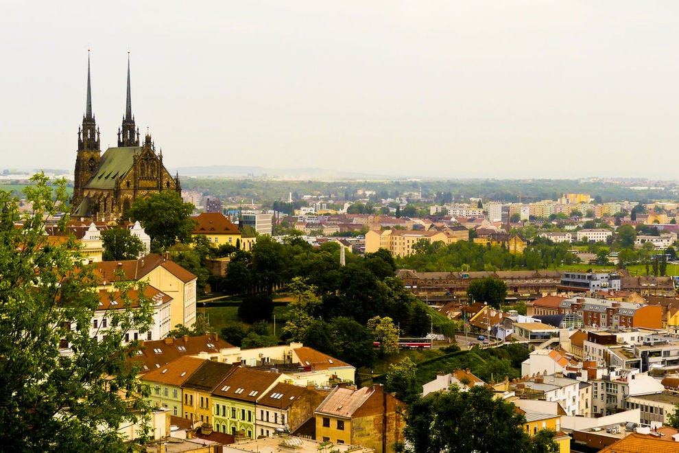 Brno offers cathedrals, historic sites, contemporary shops and restaurants, industry, forested hills and castles.