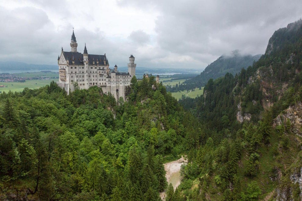 Walt Disney based Cinderella's castle on Neuschwanstein Castle in Bavaria