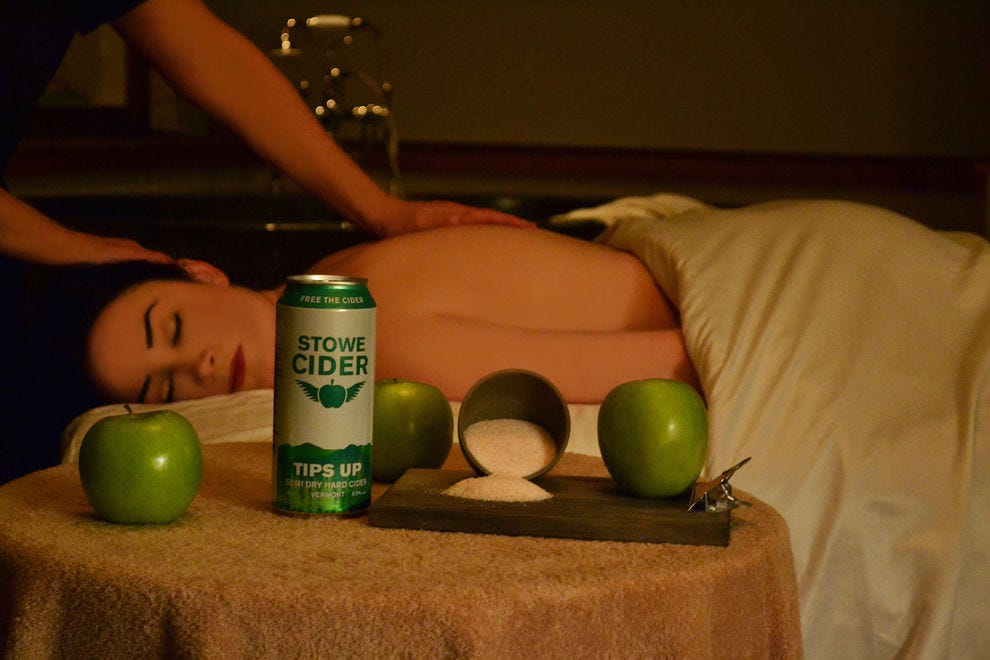 The Stowe Cider Uber Scrub is a fall treat