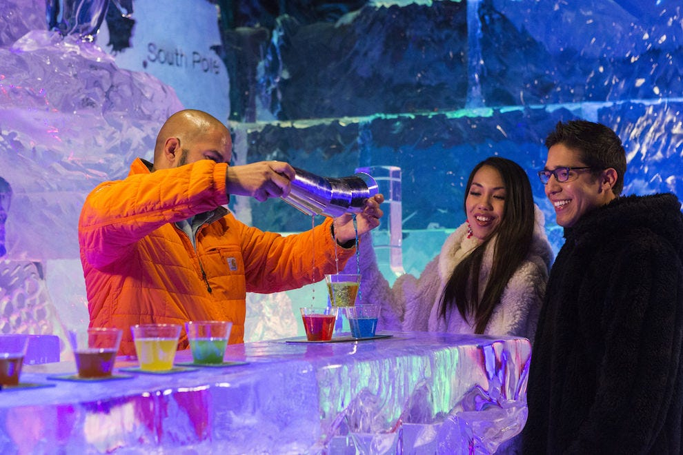 Chill out with a cocktail on ice at Polar Play