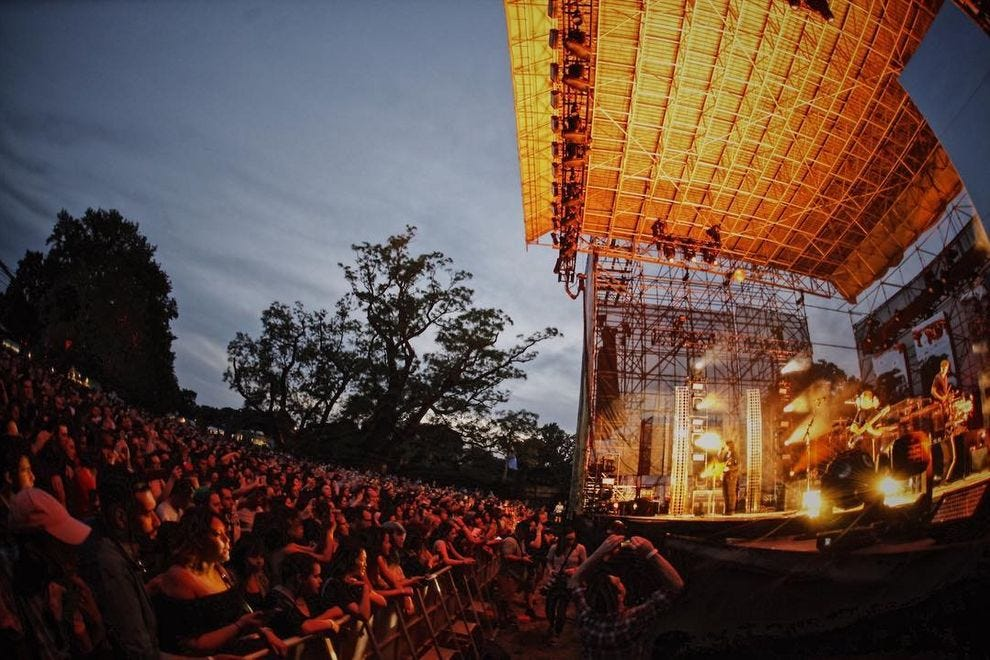 Music lovers immerse themselves in the outdoor concert experience at The Mann Center