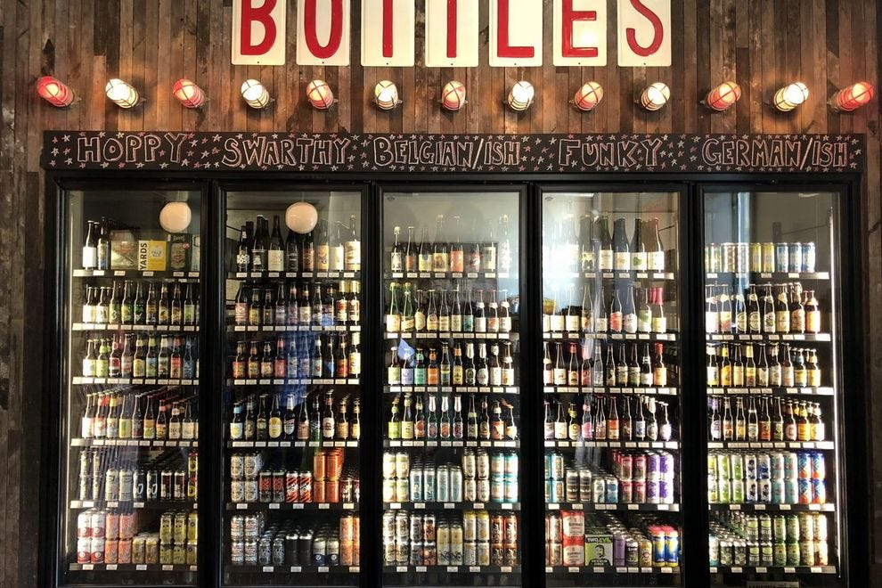 Try beers from around the world at Local 44's bottle bar