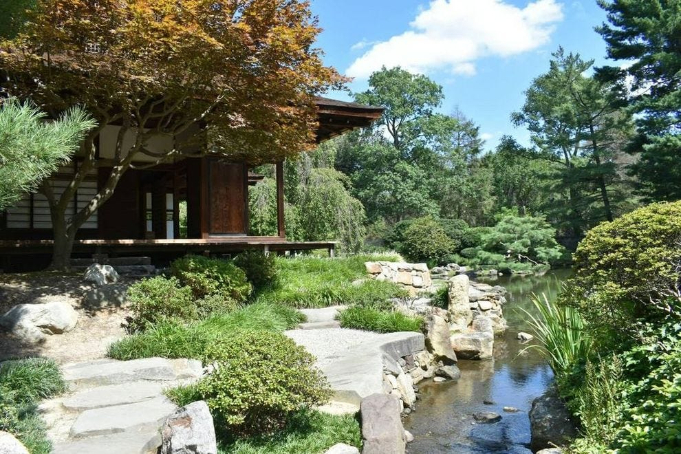 Set amongst the forest, the Shofuso Japanese House and Garden gives visitors a serene getaway.