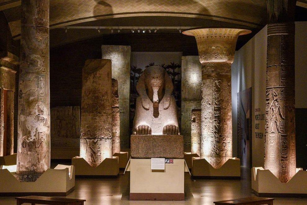 Inside the Egypt Gallery of the Penn Museum