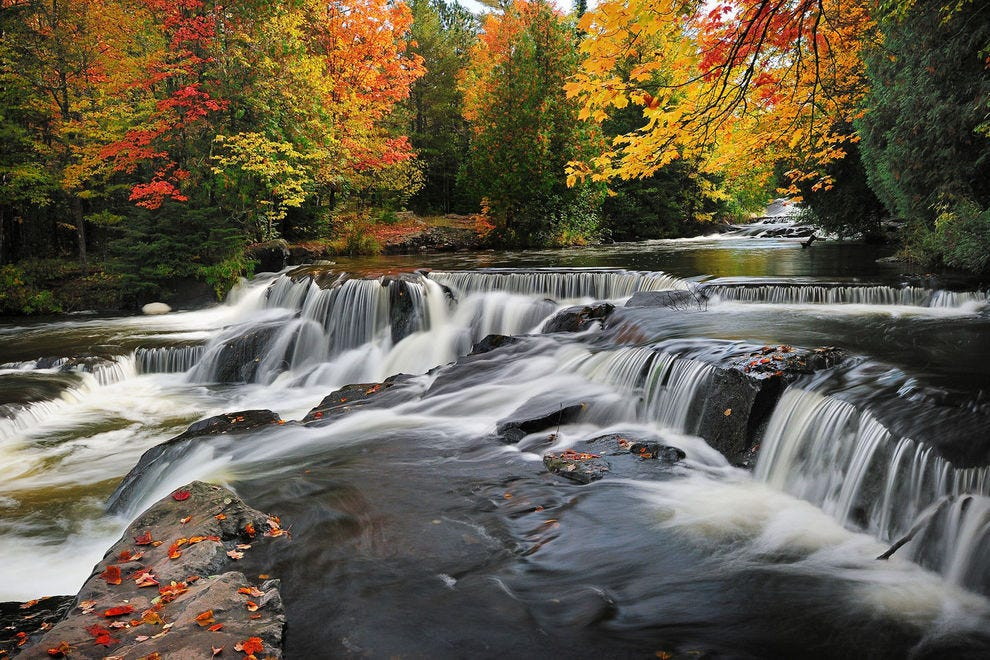 Fall foliage peaks in the Upper Peninsula in late September and early October