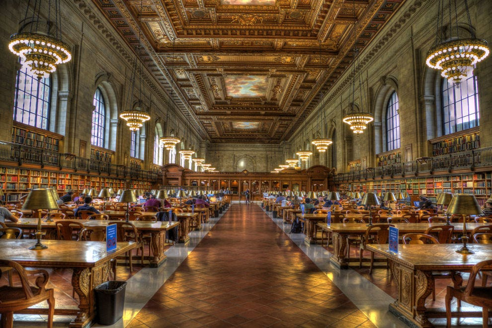 New York Public Library in New York