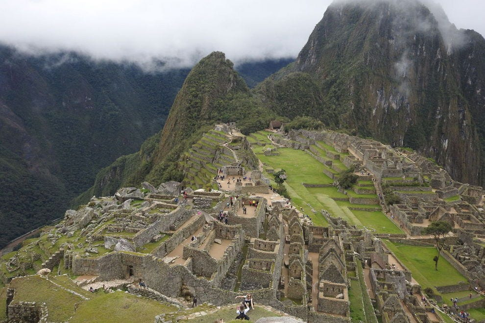 Looking down at Machu Picchu