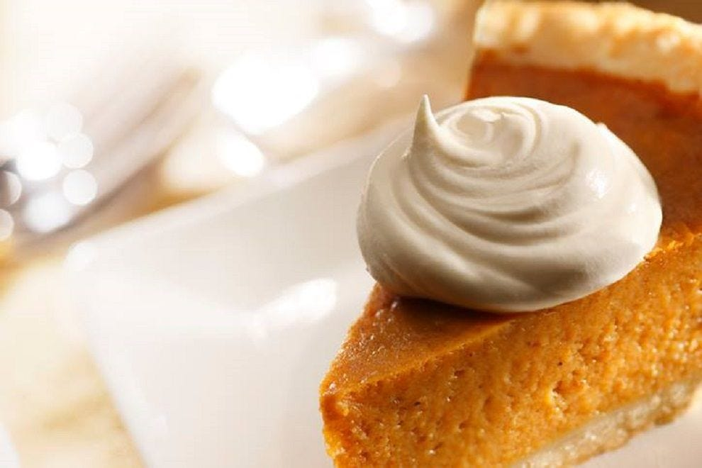 Pumpkin pie at Capital Bar & Grill