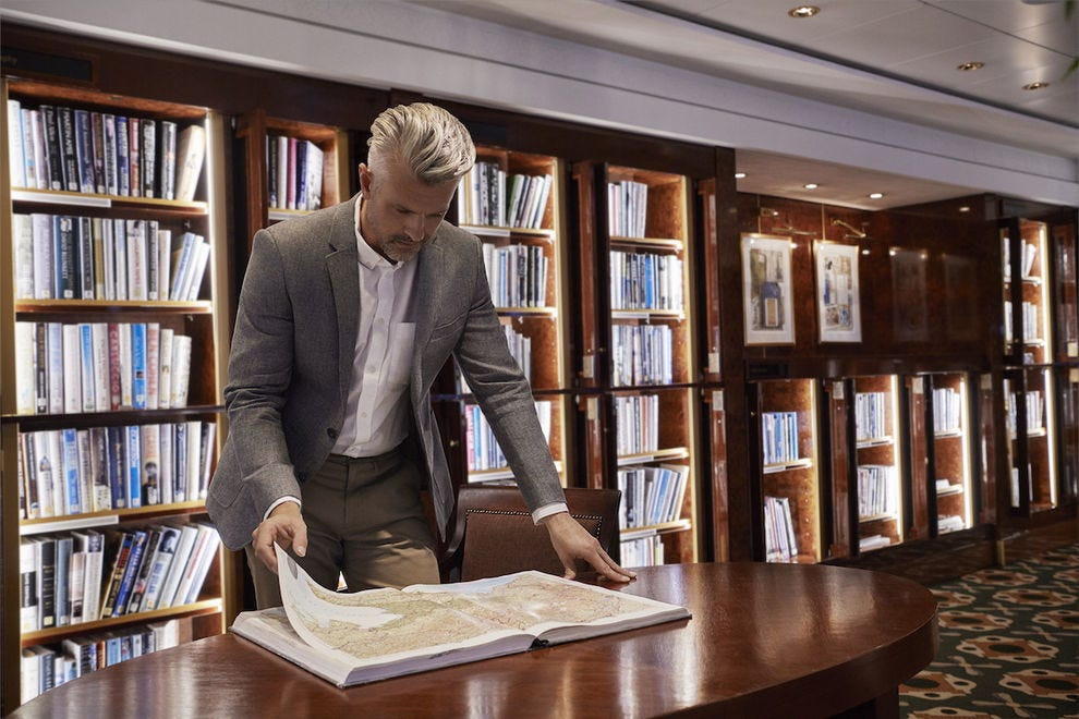 The Queen Mary 2 boasts the largest library at sea
