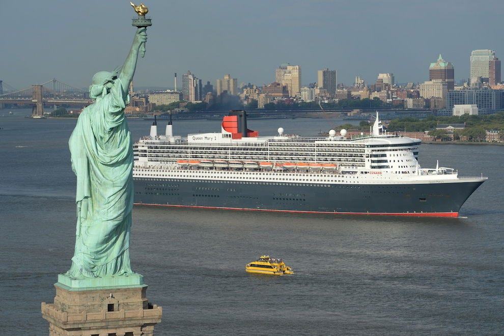 It's so moving to be greeted by the Statue of Liberty as you sail into New York - like your ancestors might have - on Cunard's <i>Queen Mary 2</i>