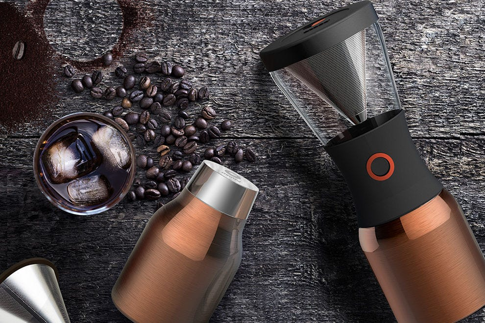 Asobu Coldbrew Insulated Portable Brewer allows you to enjoy coffee on the go