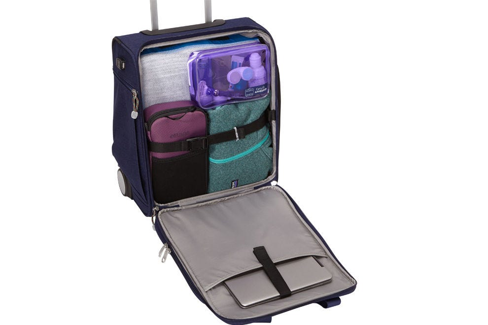 eBags Kalya Underseat Carry-on will fit under the seat in front of you