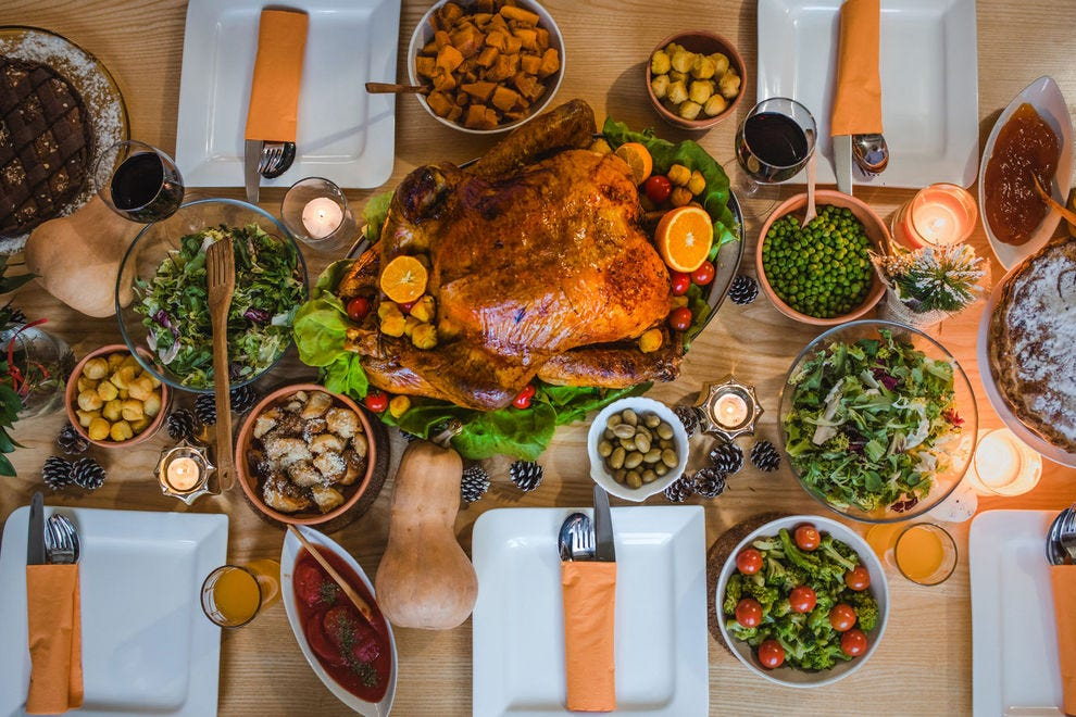 A Thanksgiving table