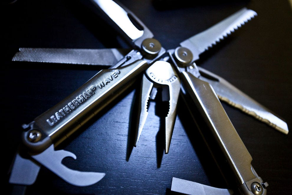 Leatherman Wave + is 18 tools in one