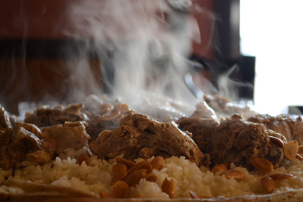 Jordan's national dish is eaten in times of celebration and conflict