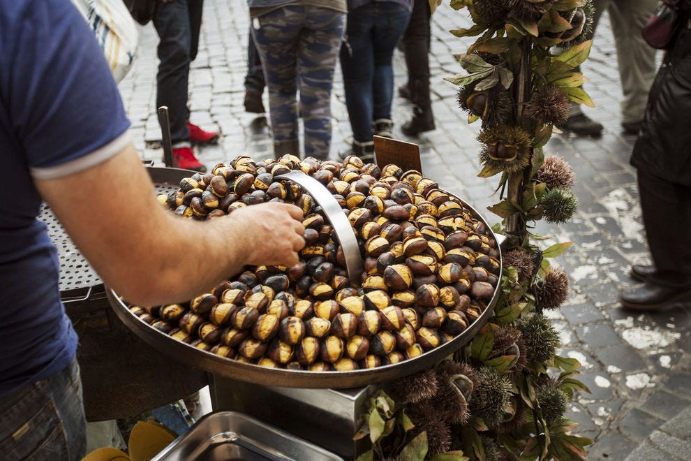 Roasted chestnuts were once easily found
